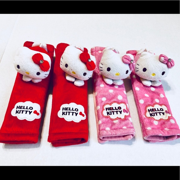799b47173 Hello Kitty Accessories | Bundles Of Carsuv Seatbelt Covers | Poshmark